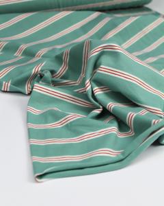 Cotton Jersey Fabric - Triple Stripe Spearmint