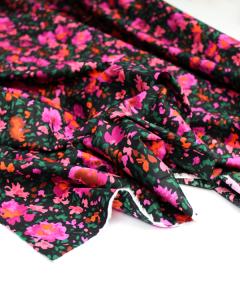 Cotton Poplin Fabric - Gia's Garden Night