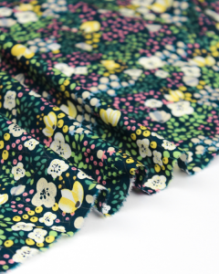 Cotton Lawn Fabric - Lucille Navy