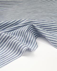 Cotton & Linen Shirting Fabric - Blue Stripe