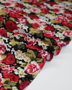 Cotton Needlecord Fabric - Rosa