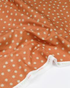 Cotton Poplin Fabric - Flower Fields Clay
