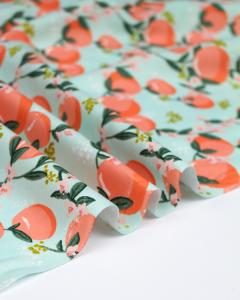 Cotton Poplin Fabric - Peachy Keen