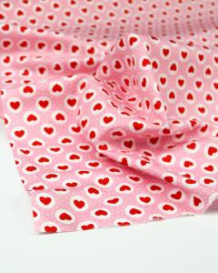 Cotton Poplin Fabric - Queen of Hearts