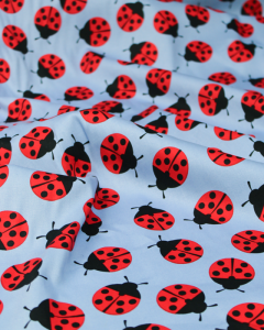 Cotton Sateen Fabric - Ladybird Ladybird