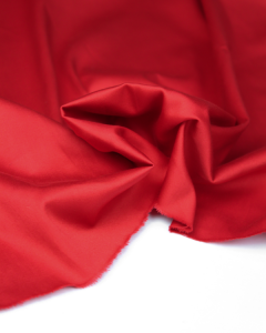 Cotton Sateen Fabric - Red