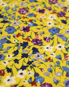 Cotton Sateen Fabric - Sunshine Meadow