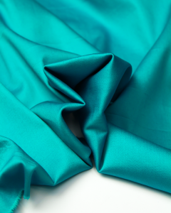 Cotton Sateen Fabric - Turquoise