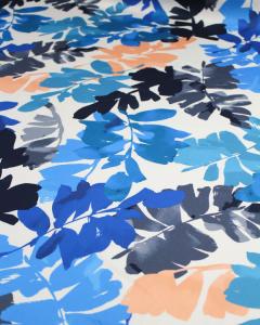 Cotton Sateen Lawn Fabric - Aruba Beach