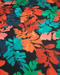 Cotton Sateen Lawn Fabric - Aruba Dawn