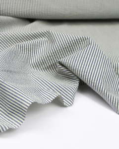 Cotton Seersucker Fabric - Candy Stripe Blue