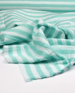 Double Gauze Fabric - Mint Stripe
