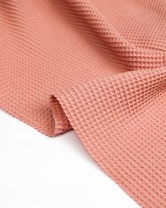 Cotton Waffle Fabric - Blush