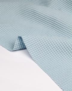 Cotton Waffle Fabric - Sky