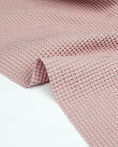 Cotton Waffle Fabric - Tea Rose