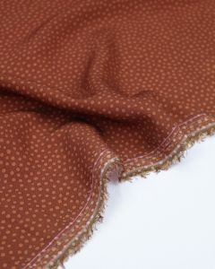 Viscose Challis Lawn Fabric - Dotty About Dots Cinnamon