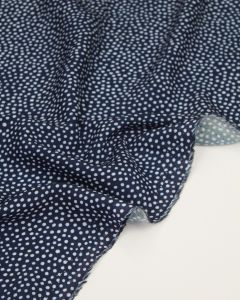 Viscose Challis Lawn Fabric - Dotty About Dots Navy