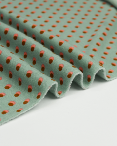 Sweatshirt Fleece Fabric - Double Dot Spearmint