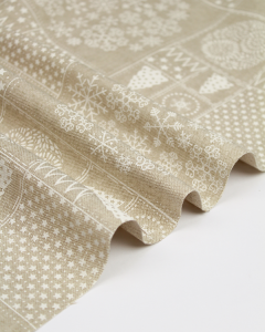 Double Width Canvas Fabric - Snowflake Tiles