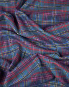 Brushed Cotton Flannel Fabric - Burleigh Tartan