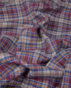 REMNANT Brushed Cotton Fabric - Lingdale Tartan
