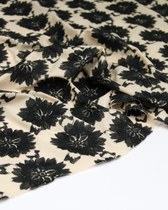REMNANT Embroidered Cotton Lawn Fabric - 100cm x 145cm