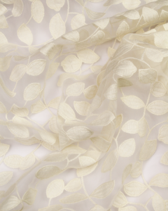 Embroidered Organza Fabric - Eucalypta
