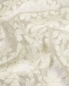 Embroidered Organza Fabric - Marguerite
