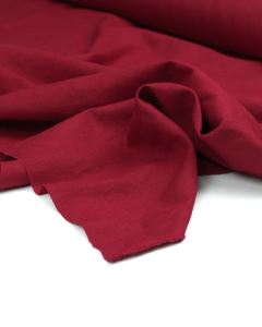Enzyme Washed Linen Fabric - Crimson