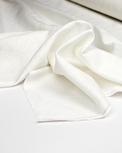 Enzyme Washed Linen Fabric - Ivory