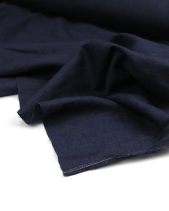 Enzyme Washed Linen Fabric - Navy