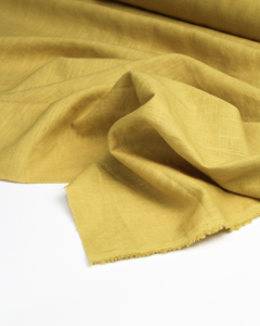Enzyme Washed Linen Fabric - Ochre