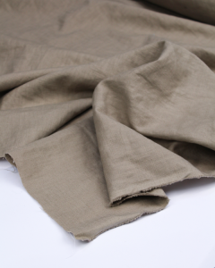 Enzyme Washed Linen Fabric - Porcini