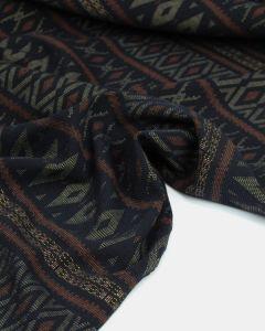 Ex-Designer Double Jersey Fabric - Lima Stripe