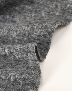 Faux Mohair Jersey Fabric - Grey