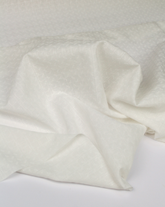 Fine Cotton Jacquard Fabric - Ivory Sprig