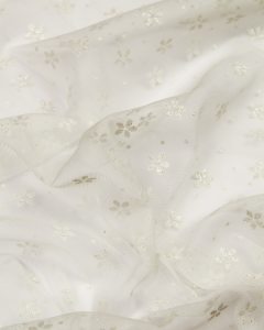 Fine Tulle Fabric - Snowflower