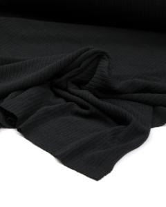 Flat Rib Jersey Fabric - Black