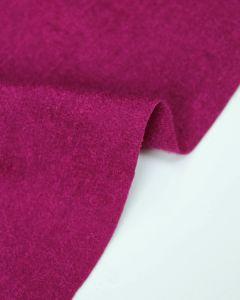 Boiled Wool Blend Jersey Fabric - Foxglove