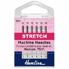 Hemline Sewing Machine Needles - Stretch Medium 75/11