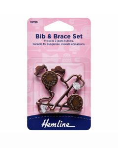 Dungaree Clips - Bronze