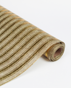 Hessian Roll - Ticking Stripe Gold