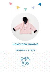 Poppy & Jazz - Paper Sewing Pattern - Honeydew Hoodie