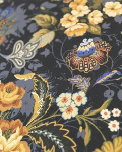 Polyester Crepe Fabric - Jacobean Floral Panel