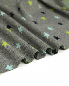 Jacquard Double Knit Fabric - Seaside Stars