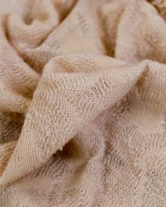 Floral Lace Jersey Fabric - Shell
