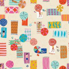 Patchwork Cotton Fabric - Lazy Days - Beach Blanket Bathers
