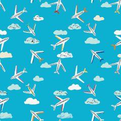 Patchwork Cotton Fabric - Lazy Days - Jet, Set, Go!