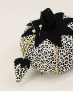 Tomato Pin Cushion - Leopard Print