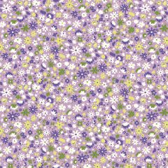 Liberty Patchwork Cotton Fabric - Carnaby - Bloomsbury Blossom Lilac